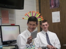 One of Sean's MTC Teachers - his district made him a crown for his birthday :)
